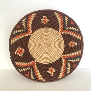 Vintage Natural Woven Grass Boho Basket